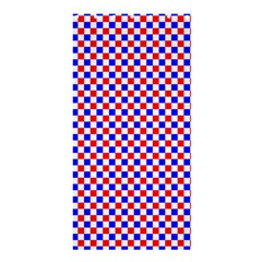 Blue Red Checkered Plaid Shower Curtain 36  X 72  (stall)  by Jojostore