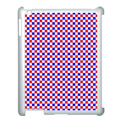 Blue Red Checkered Plaid Apple Ipad 3/4 Case (white) by Jojostore