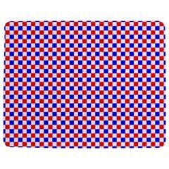 Blue Red Checkered Plaid Jigsaw Puzzle Photo Stand (rectangular) by Jojostore