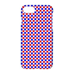Blue Red Checkered Plaid Apple Iphone 7 Hardshell Case