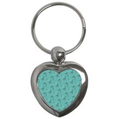 Animals Deer Owl Bird Grey Bear Blue Key Chains (heart)  by Jojostore