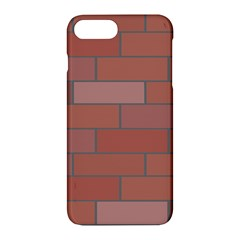 Brick Stone Brown Apple Iphone 7 Plus Hardshell Case by Jojostore