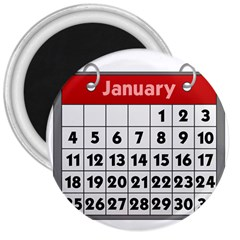 Calendar Clip January 3  Magnets by Jojostore