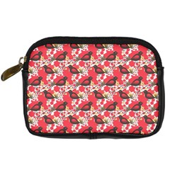 Birds Seamless Cute Birds Pattern Cute Red Digital Camera Cases by Jojostore