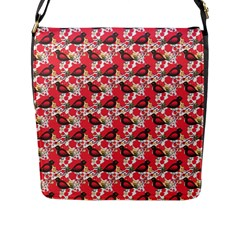Birds Seamless Cute Birds Pattern Cute Red Flap Messenger Bag (l)  by Jojostore