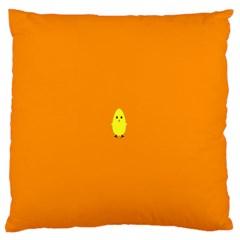 Chicks Orange Animals Large Flano Cushion Case (two Sides)