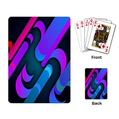 Chevron Wave Rainbow Purple Blue Pink Playing Card by Jojostore