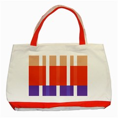 Compound Grid Flag Purple Red Brown Classic Tote Bag (red) by Jojostore