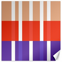 Compound Grid Flag Purple Red Brown Canvas 16  X 16   by Jojostore