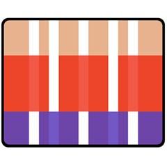 Compound Grid Flag Purple Red Brown Fleece Blanket (medium)  by Jojostore
