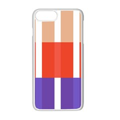 Compound Grid Flag Purple Red Brown Apple Iphone 7 Plus White Seamless Case by Jojostore