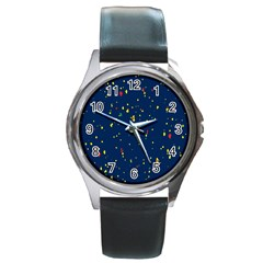 Christmas Sky Happy Round Metal Watch by Jojostore