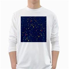 Christmas Sky Happy White Long Sleeve T Shirts by Jojostore