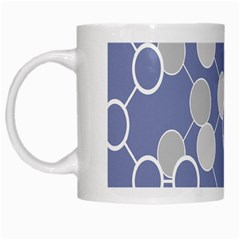 Circle Blue Line Grey White Mugs by Jojostore
