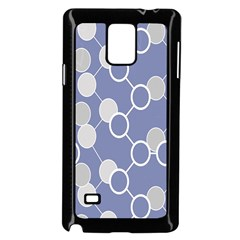 Circle Blue Line Grey Samsung Galaxy Note 4 Case (black) by Jojostore