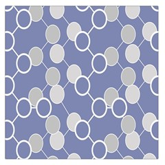 Circle Blue Line Grey Large Satin Scarf (Square) by Jojostore