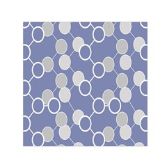 Circle Blue Line Grey Small Satin Scarf (square) by Jojostore