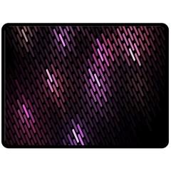 Fabulous Purple Pattern Wallpaper Fleece Blanket (large)  by Jojostore