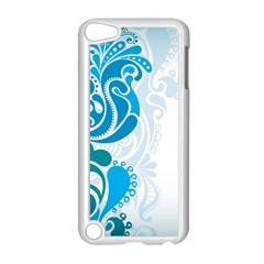 Garphic Leaf Flower Blue Apple Ipod Touch 5 Case (white) by Jojostore