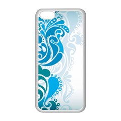 Garphic Leaf Flower Blue Apple Iphone 5c Seamless Case (white) by Jojostore