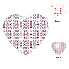 Circle Love Heart Purple Pink Blue Playing Cards (Heart)  by Jojostore