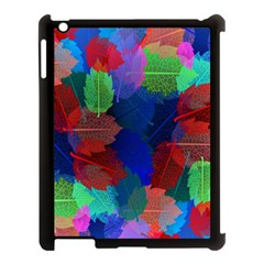 Floral Flower Rainbow Color Apple Ipad 3/4 Case (black) by Jojostore