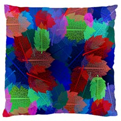 Floral Flower Rainbow Color Standard Flano Cushion Case (one Side) by Jojostore