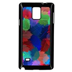 Floral Flower Rainbow Color Samsung Galaxy Note 4 Case (Black) by Jojostore