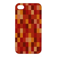 Canvas Decimal Triangular Box Plaid Pink Apple Iphone 4/4s Hardshell Case by Jojostore