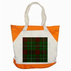 Cardney Tartan Fabric Colour Green Accent Tote Bag by Jojostore