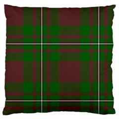 Cardney Tartan Fabric Colour Green Standard Flano Cushion Case (one Side)
