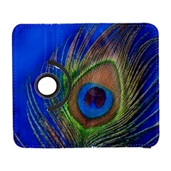 Blue Peacock Feather Galaxy S3 (flip/folio) by Amaryn4rt