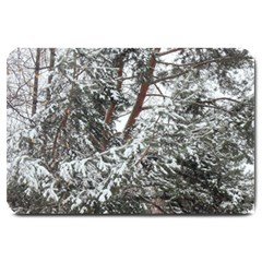 Winter Fall Trees Large Doormat  by ansteybeta