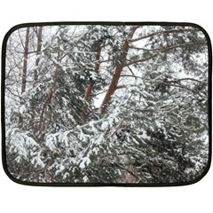 Winter Fall Trees Double Sided Fleece Blanket (mini)  by ansteybeta