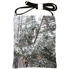 Winter Fall Trees Shoulder Sling Bags by ansteybeta