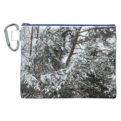 Winter Fall Trees Canvas Cosmetic Bag (xxl) by ansteybeta