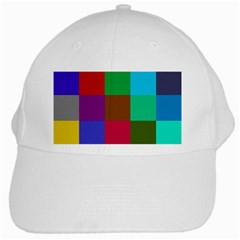 Chessboard Multicolored White Cap by Jojostore