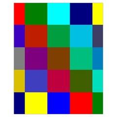 Chessboard Multicolored Drawstring Bag (small) by Jojostore