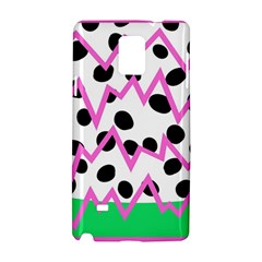 Wave Chevron Circle Purple Green White Black Samsung Galaxy Note 4 Hardshell Case by Jojostore