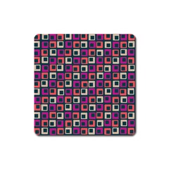 Abstract Squares Square Magnet by Jojostore