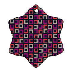 Abstract Squares Snowflake Ornament (two Sides) by Jojostore
