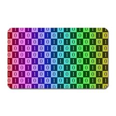 Checker Number One Magnet (rectangular) by Jojostore