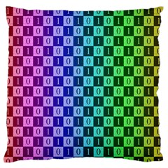 Checker Number One Large Flano Cushion Case (one Side)