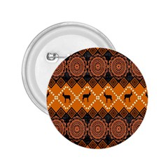African Pattern Deer Orange 2.25  Buttons