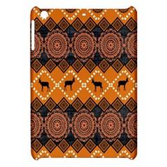 African Pattern Deer Orange Apple Ipad Mini Hardshell Case by Jojostore