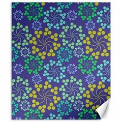 Color Variationssparkles Pattern Floral Flower Purple Canvas 8  X 10  by Jojostore
