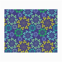 Color Variationssparkles Pattern Floral Flower Purple Small Glasses Cloth (2 Side) by Jojostore