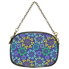 Color Variationssparkles Pattern Floral Flower Purple Chain Purses (one Side)  by Jojostore