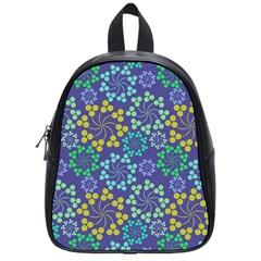 Color Variationssparkles Pattern Floral Flower Purple School Bags (small)  by Jojostore