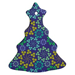 Color Variationssparkles Pattern Floral Flower Purple Christmas Tree Ornament (two Sides) by Jojostore